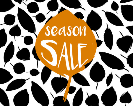 Sale background with lots of leaves in discount concept illustration. 向量圖像