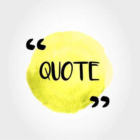 A yellow painted quote template