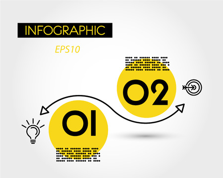 yellow infographic linear wave, infographic concept 向量圖像
