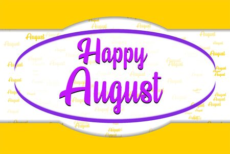 happy august bacground vector