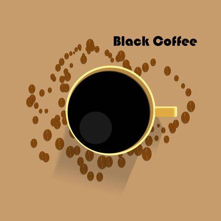 Black Coffee vector design Ilustração