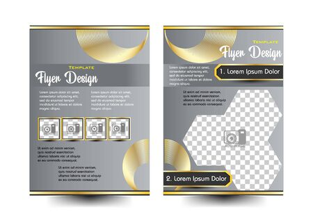 flyer design metal concept Ilustração