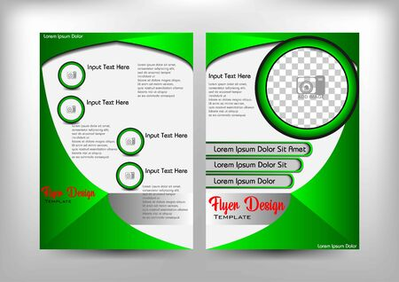 flyer design, green buterflye theme