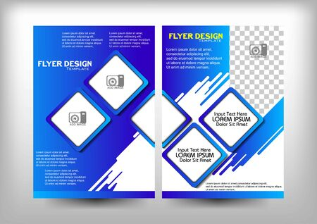 brochure design vector. blue milk theme