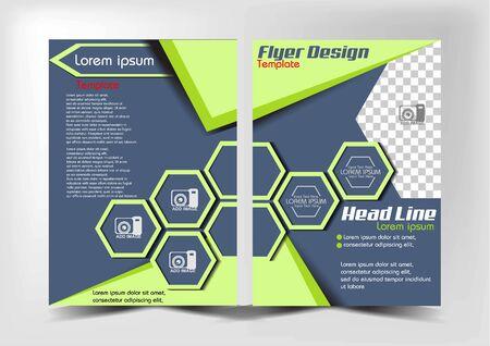 flyer design soft color for company profile etc, Ilustração