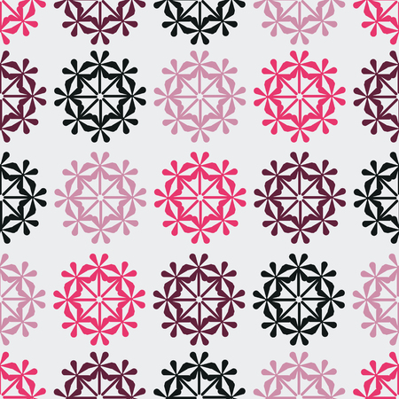 Modern abstract flowers on grey background seamless pattern. Great for invitations, fabric, wallpaper, gift-wrap. Surface pattern design.