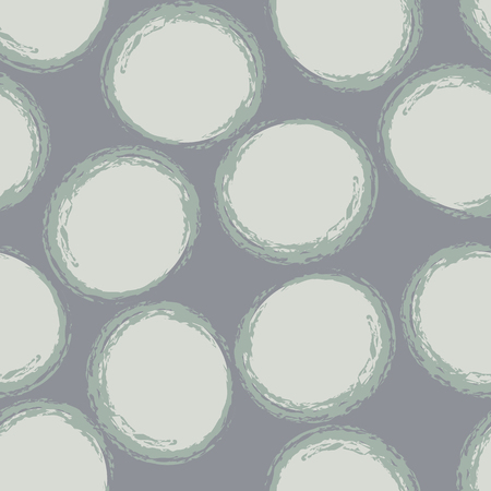 Modello senza cuciture tono su tono di cerchi grigi. Design moderno ottimo per inviti, tessuto, carta da parati, carta da regalo. Disegno del modello di superficie.