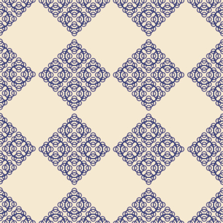 Abstract modern fractal ivory and navy seameless pattern. Great for invitations, fabric, wallpaper, giftwrap. Surface pattern design.