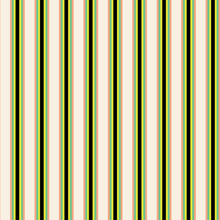 Green and black stripes on ivory background seamless repeat. Great for invitations, fabric, wallpaper, giftwrap, scrapbook paper. Surface pattern design.
