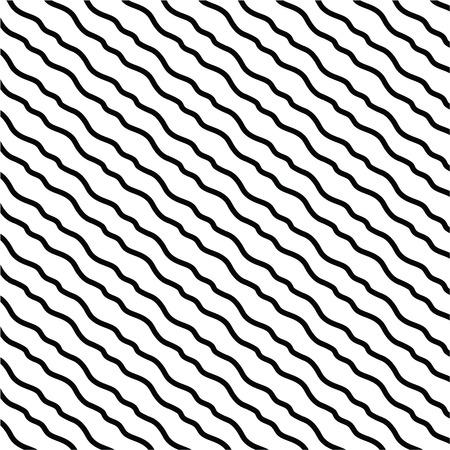 Black and white hand drawn diagonal lines vector illustration. Ilustração