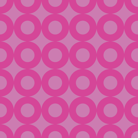 Pink and fuchsia circle rows seamless pattern. Great for invitations, fabric, wallpaper, gift-wrap. Surface pattern design. Banco de Imagens - 123122664
