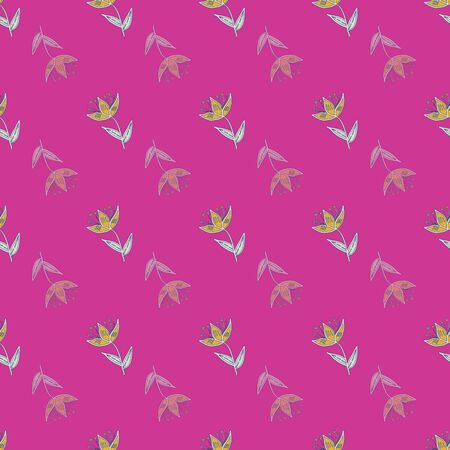 Retro stylized gold flowers on pink background seamless pattern. Modern design great for invitations, fabric, wallpaper, giftwrap. Surface pattern design.