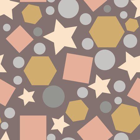 Formes géométriques vintage motif abstrait de répétition sans couture. Idéal pour le papier peint, les arrière-plans, les invitations, les projets de conception d'emballages. Conception de motifs de surface. Vecteurs