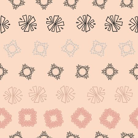 Pink and grey tribal abstract seamless pattern. Great for folk modern wallpaper, backgrounds, invitations, packaging design projects, scrapbooking. Surface pattern design.