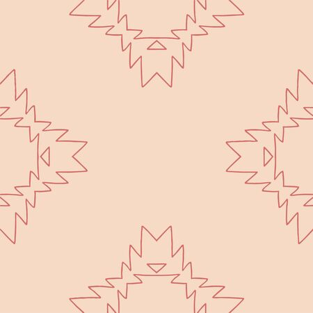 Pink and terracota tribal abstract seamless pattern. Great for folk modern wallpaper, backgrounds, invitations, packaging design projects, scrapbooking. Surface pattern design.