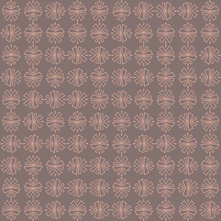 Pink tribal abstract seamless pattern on brown background. Great for folk modern wallpaper, backgrounds, invitations, packaging design projects, scrapbooking. Surface pattern design.