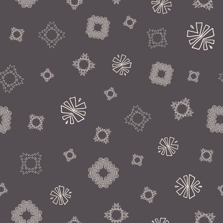Cream and grey tribal abstract seamless pattern.