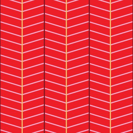 Bright seamless chevron vector pattern in red, pink and yellow. Banque d'images - 137529774