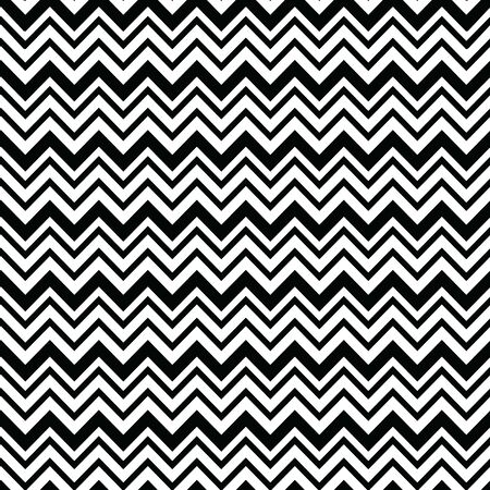 Bold seamless chevron vector pattern in white and black. Banque d'images - 137529776