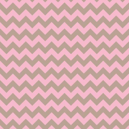 Soft feminine seamless chevron vector pattern in pink and beige. Banque d'images - 137529780