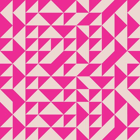 Modern random triangle seamless pattern in pink and salmon.