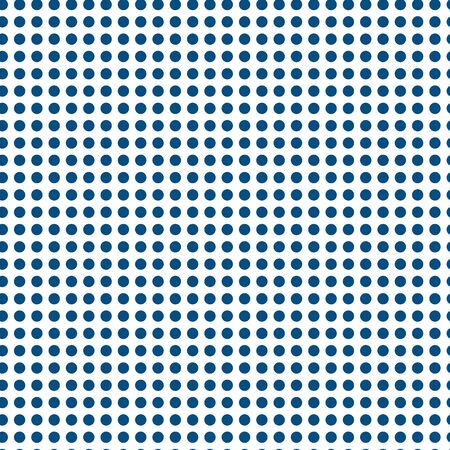 Classical cute blue polka dot pattern coordinating print. Pretty, fresh background for packaging, textiles, stationery, beach wear, resort and spa, nautical,boys room decorations. Seamless vector.