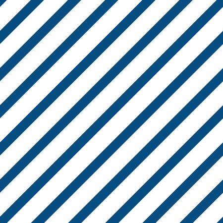 Modern sophisticated diagonal stripe pattern in navy and white. Great for textiles, home decor, wrapping paper, packaging and fashion prints, nautical, beach and pool decor. Seamless vector design. Illustration
