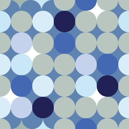 Classical blue polka dot pattern coordinating print. Pretty, fresh background for packaging, textiles, beach wear, resort and spa, nautical, boys room decorations. Seamless repeat pattern. Banque d'images - 138815479