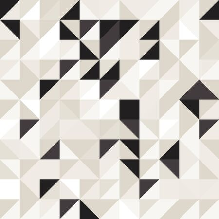 Modern elegant random triangles seamless pattern in neutral colors. All over print design great for fashion, textiles, wallpaper, gift wrapping and home decor items. Vector repeat pattern. Banque d'images - 138815480