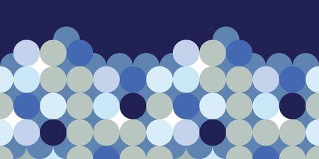 Classical blue dots border pattern coordinating print. Pretty, fresh background for packaging, textiles, beach wear, resort and spa, nautical, boys room decorations. Seamless repeat pattern.