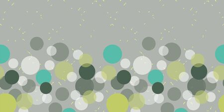 Retro 60 style pastel abstract seamless border repeat with circles. All over print design great for fashion, textiles, wallpaper, gift wrapping paper, paper crafts and home decor items. Vector repeat. Banque d'images - 138626505