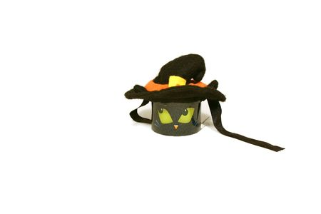 Halloween Decoration - Little Cat candle Stock Photo