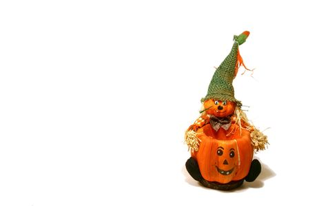 Halloween Decoration - Scarecrow and the Pumpkin photo