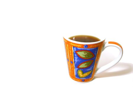 Isolated Coffee Mug with no top - abstract Stock Photo