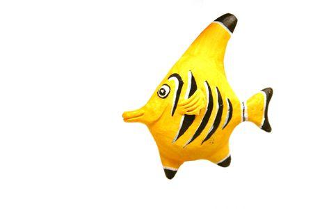 Close up on a decoration - Yellow Fish Stock Photo