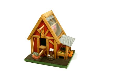 Halloween Decoration - Miniature Farm House Stock Photo