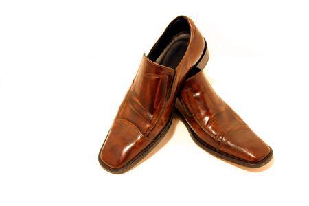 profesar: Aislado imagen de un par de zapatos Brown