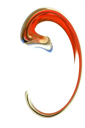 Abstract Red Ear