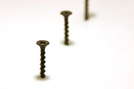 Screws in Line with focus in the front