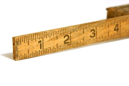 Close up shot on a vintage measuring tape  ruler Stock Photo