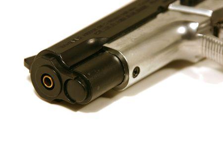 Close up shot on a BB Gun