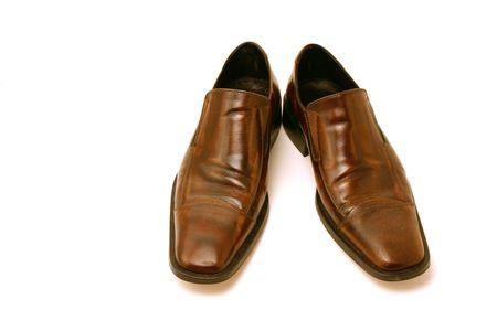 profesar: Aislado imagen de un par de zapatos de Brown  Foto de archivo