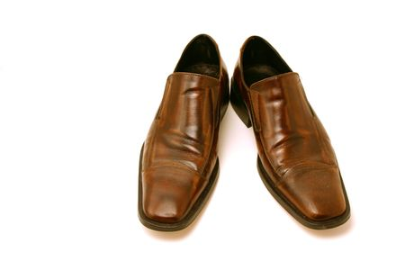costumer: Isolated picture of a pair of Brown Shoes