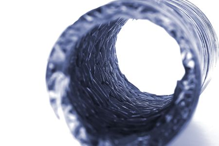 Isolated Dryer Vent Hose on White Background