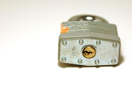 Close up shot on a padlock