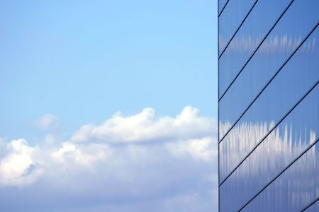 mirrored: Sky reflecting from the Mirrored Business Building