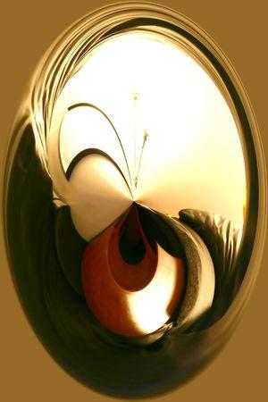 抽象芸術 - ミラー 写真素材
