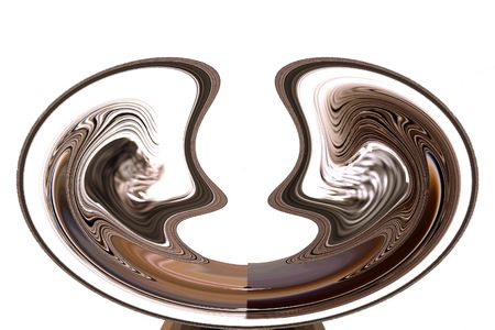 Abstract Art - Fortune Teller Bowl photo