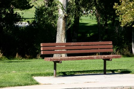 Bench in Sugarhouse Park Stock Photo