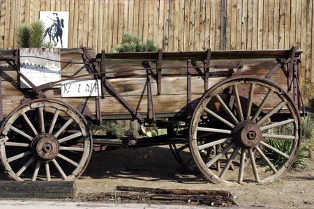 Close up on an Old Antique Wagon Stock Photo - 269666